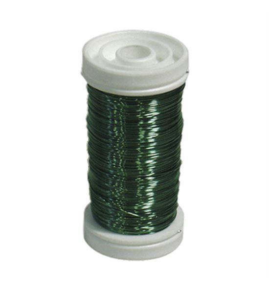 Bobina alambre de cobre barnizado verde oliva - BC-12170163