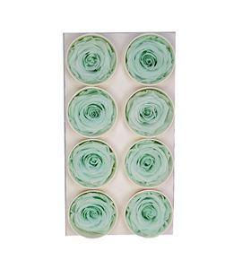 Rosa preservada 8 unid verde claro g-01 sr - G-01SR