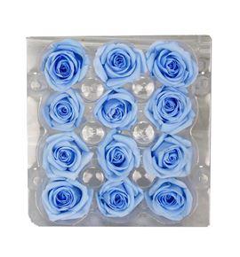 Rosa preservada 12 unid azul claro b-02 sp - B-02SP
