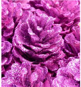 Piña fucsia purpurina x50 - PINFUCPUR