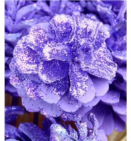 Piña lila purpurina x50 - PINLILPUR