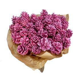 Piña rosa purpurina x50 - PINROSPUR