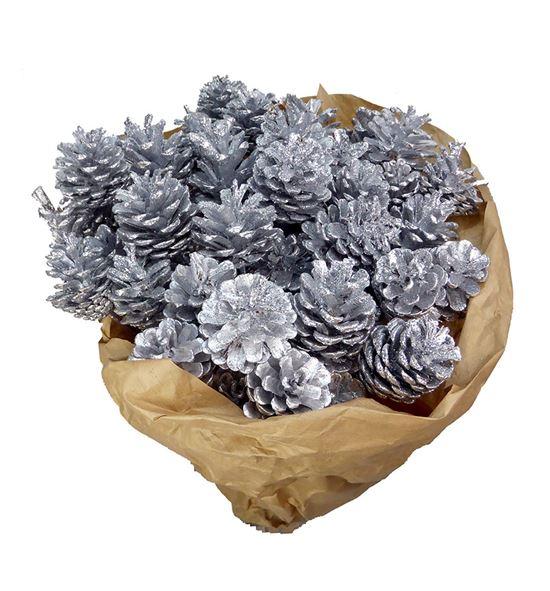 Piña plata purpurina x50 - PINPLAPUR