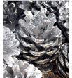 Piña plata purpurina x50 - PINPLAPUR1