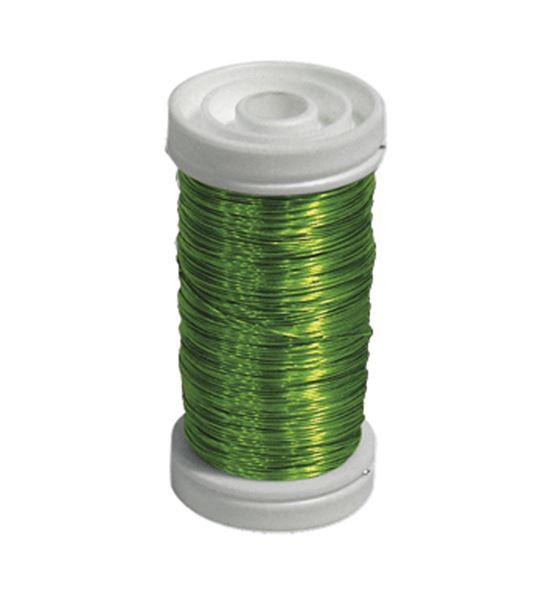 Bobina alambre de cobre barnizado verde neon - BC-12170333