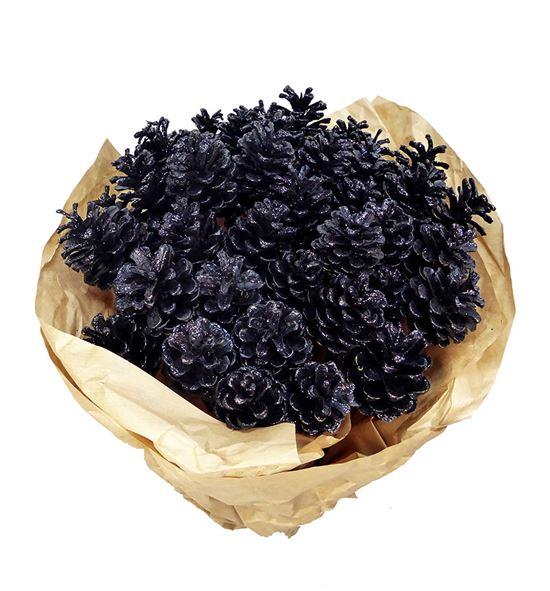 Piña negro purpurina x50 - PINNEGPUR