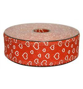 Cinta tnt-decofibra corazones rojo 40mm - BM-004-25