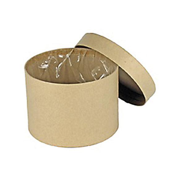 Caja carton cilindrica con forro de plastico 13ø - B-181-1
