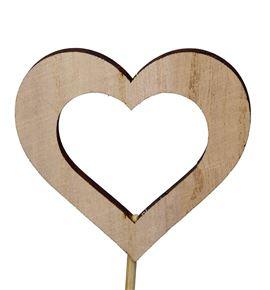 Pick heart open wood 6.5cm - PICHEAOPE
