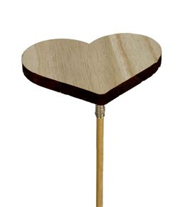 Pick heart wood 6.5cm - PICHEAWOO65