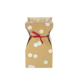20 cestas de carton + plastico con puntos natural - B-170-4