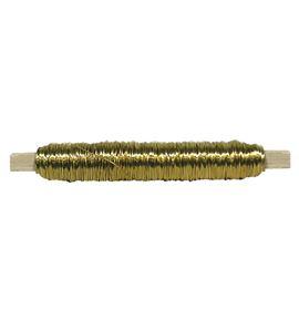 Bobina alambre con soporte madera oro - BC-12370075