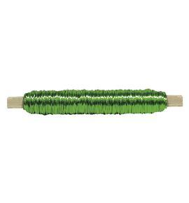 Bobina alambre con soporte madera verde - BC-12370155