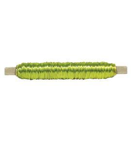 Bobina alambre con soporte madera verde neon - BC-12370335