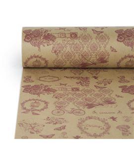 Bobina jardin vintage papel havanna natural - BH-519