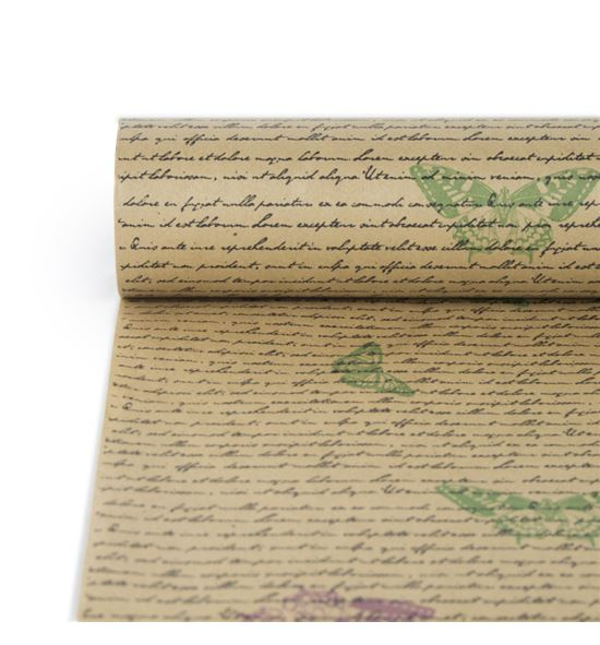 Bobina papel antihumedad karf havanna texto mariposas - BH-515