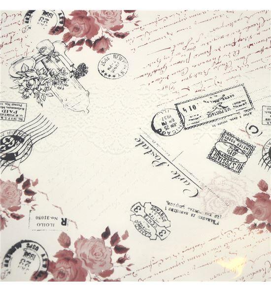 Polipropileno carta postal fondo blanco - BH-279-1
