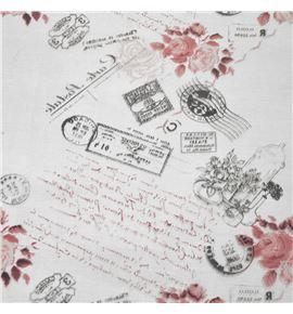 Polipropileno carta postal fondo burdeos - BH-280-2