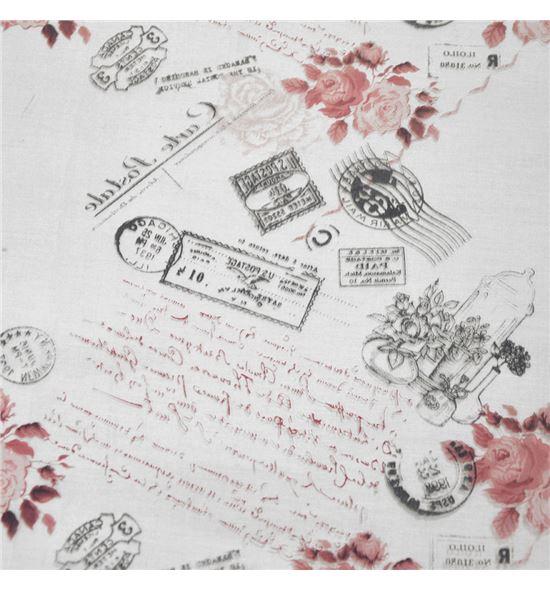 Polipropileno carta postal fondo transparente burdeos - BH-280-4