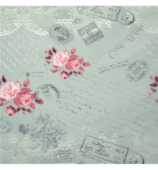 Polipropileno carta postal fondo turquesa - BH-279-2.