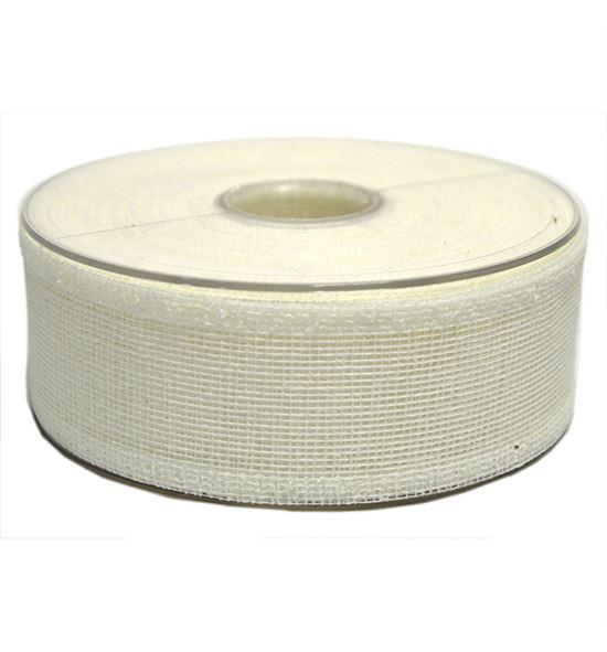 Cinta de fibra natural blanca - BM-0121-01