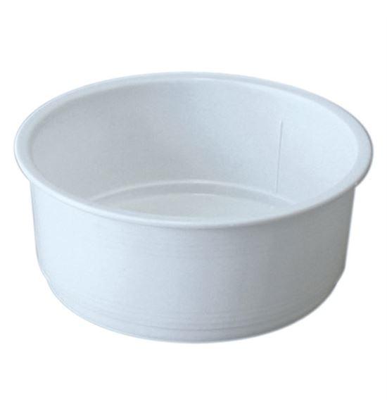 Tarrina redonda blanca (10 un) - P-73