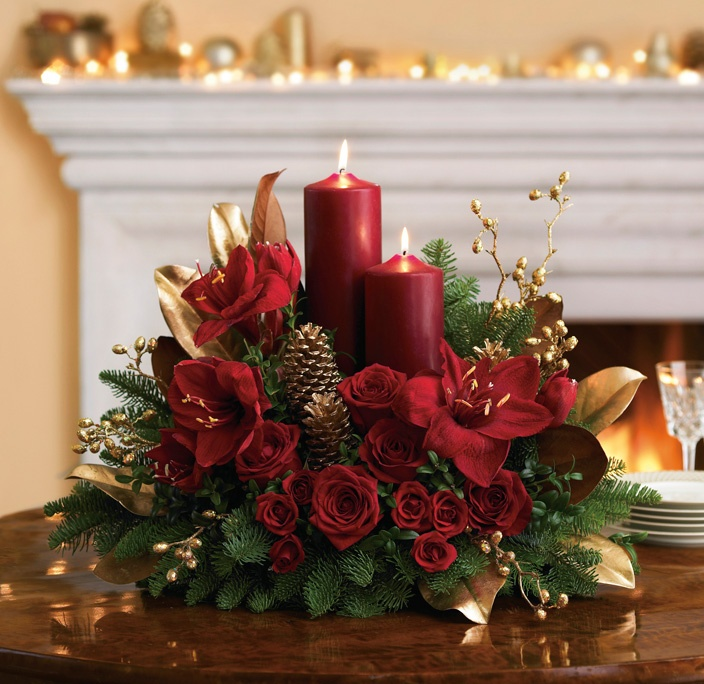 Arreglos florales de Navidad para unas fiestas perfectas