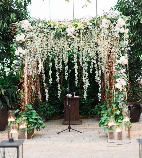 bodas 2018: decoración floral de exterior tendencia este año