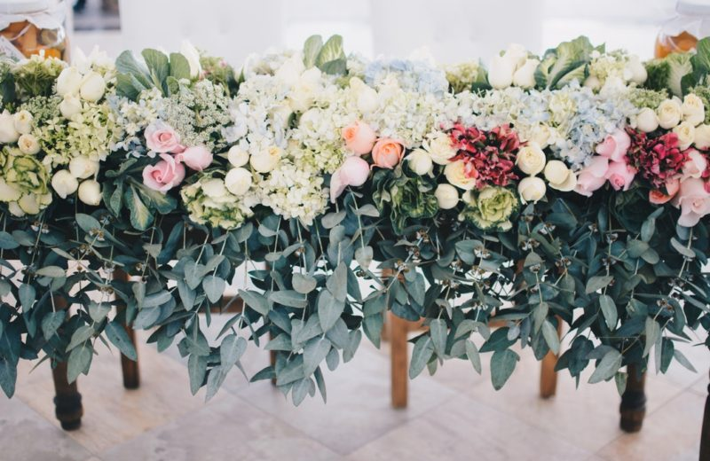 decoración floral de exterior